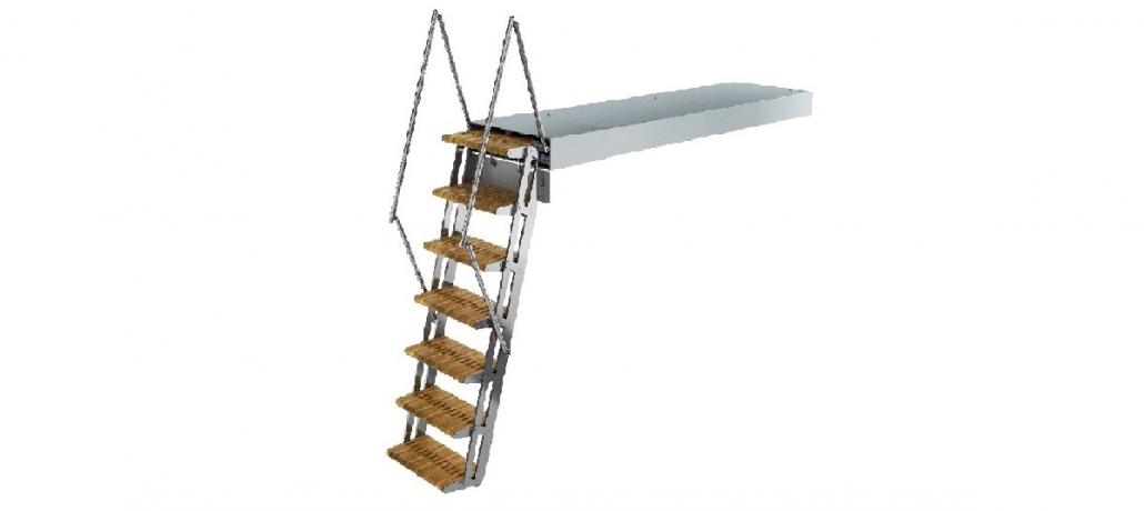 Hydraulic bathing ladder Columba