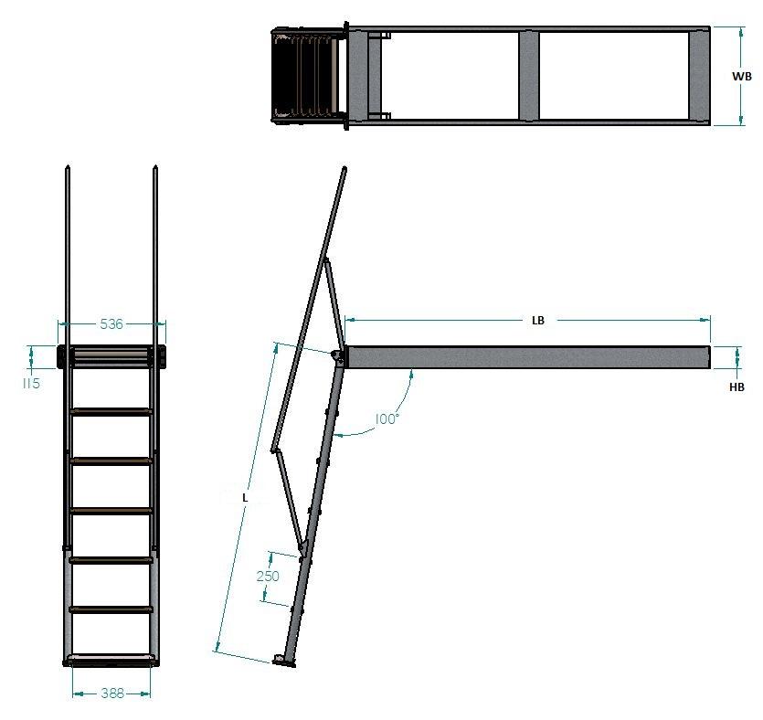Swissway bathing ladder Carina 1500