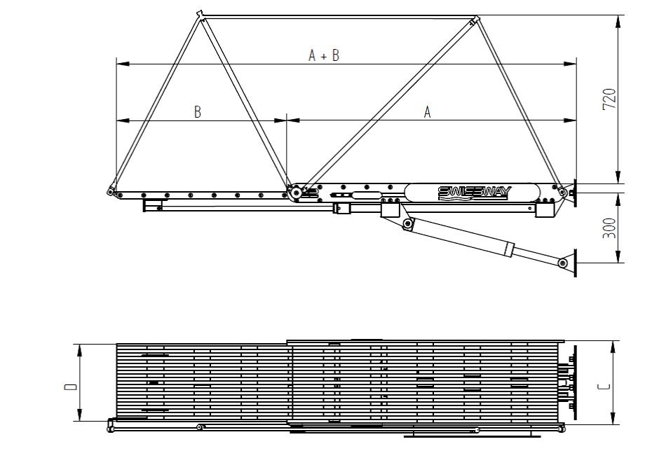 Swissway external gangway Rialto drawing