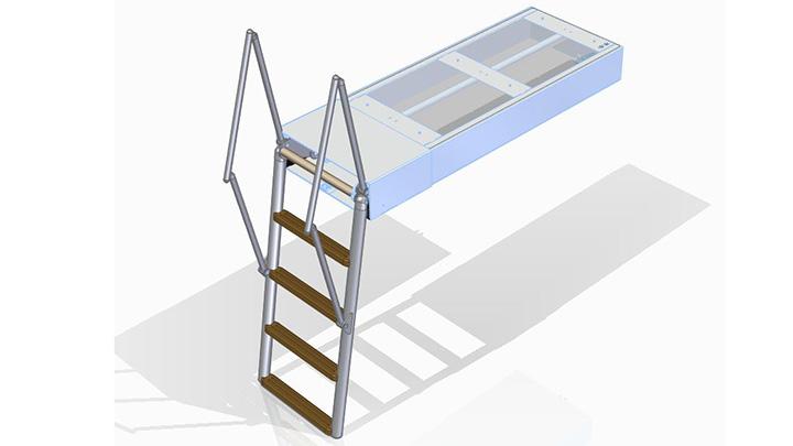 Swissway swim ladder Carina Railing